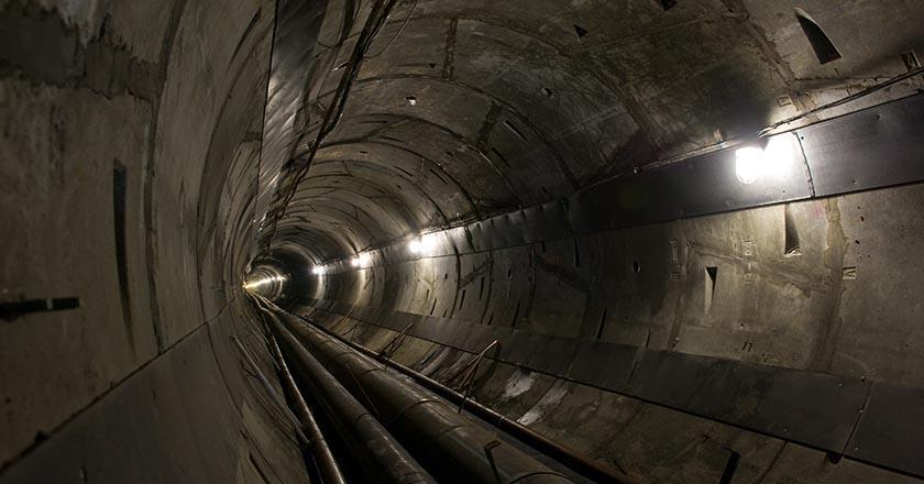 Необслуживаемый технологический тоннель «Грушовая–Шесхарис» в Новороссийске