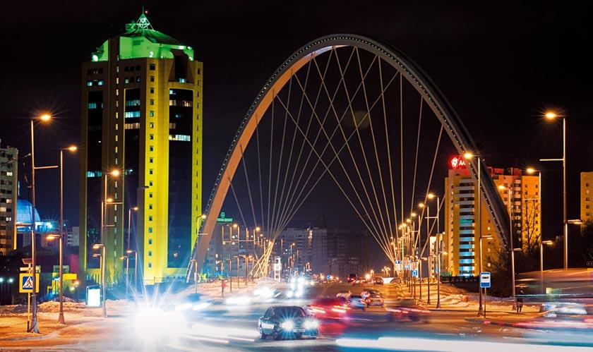 Проект моста через реку Ишим по пр. Кабанбай Батыра в Астане, Республика Казахстан
