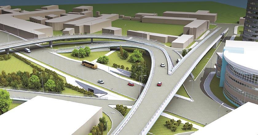 Транспортная развязка в двух уровнях на пересечении улиц Гагарина и Донская в Сочи