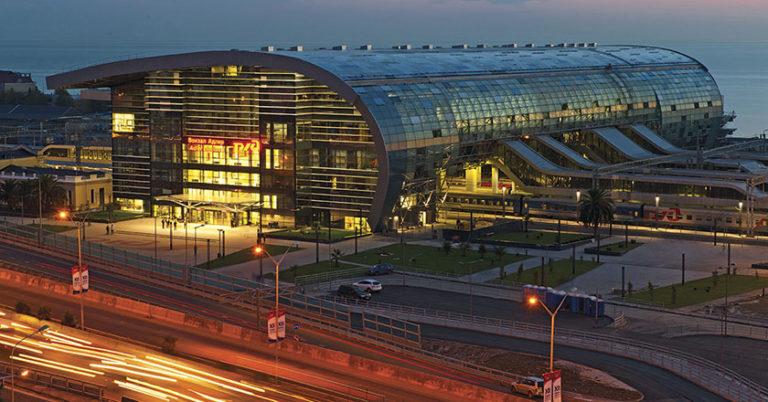 Вокзальный комплекс станции Адлер  с сооружением нового пассажирского терминала в Сочи