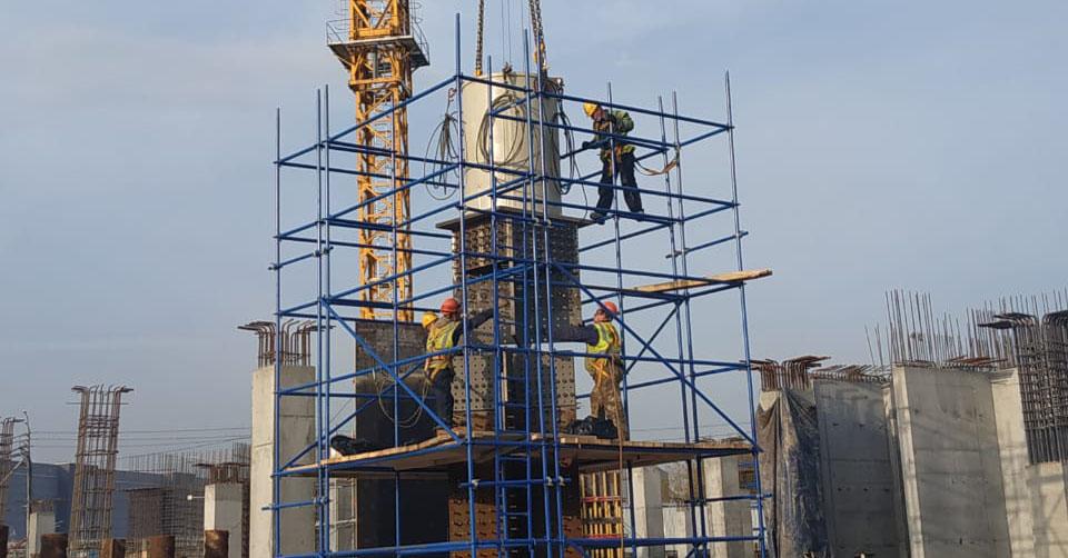 Монтажные работы на строительстве «Технопарка ПАО Сбербанк» в инновационном центре Сколково